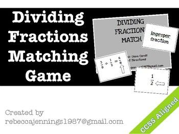Review and practice vocabulary associated with dividing fractions. Vocabulary terms include: denominator, numerator, simplest form, mixed number, improper fraction, reciprocal, dividend, divisor, and quotient. Terms are matched to number models and students are required to discuss definitions in their own words.File includes: 18 playing cards (plus decorative card backs) and student directionsAligns with CCSS