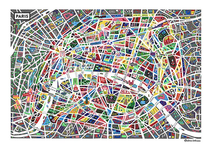 Un maravilloso mapa de París - Esquire