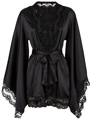 One week lounging in this at night with a tea... change your evenings! Agent Provocateur Luna Kimono