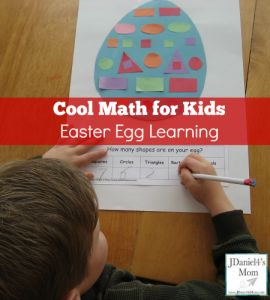 Cool Math and Craft for Kids Easter Egg Learning- Counting the Shapes
