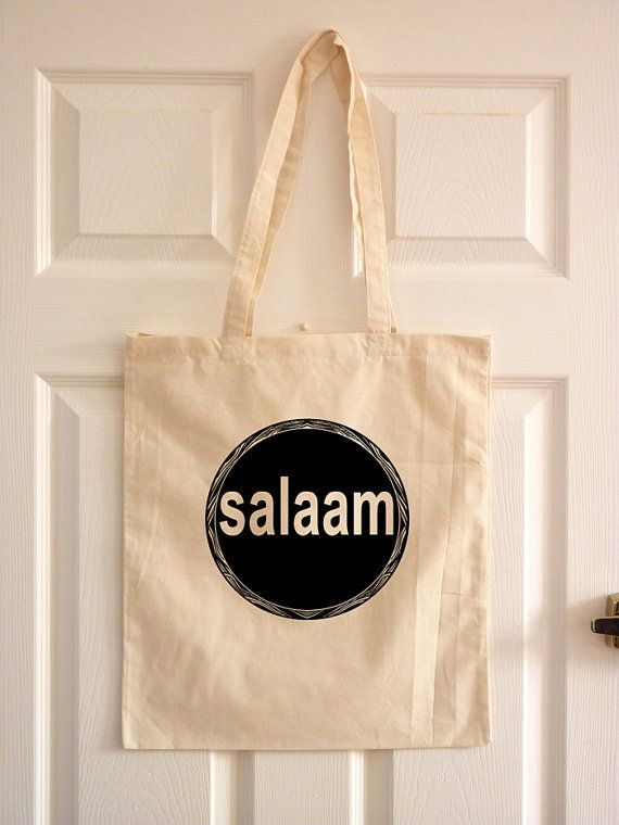 "Eid Gift/ Islamic Tote Bag/ Arabic Language/ by TheToteGallery, £6.99. Cute simply as a gift or to use as a ""gift bag"""