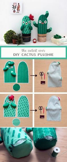 Learn to stitch up these cactus cuties using our fabric template and a few simple stitches