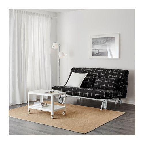 IKEA PS LÖVÅS 2er-Bettsofa - Rute schwarz, - - IKEA