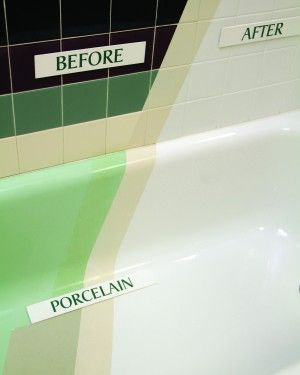 EcoGlaze is a new, less toxic option, for refinishing tubs and tile.