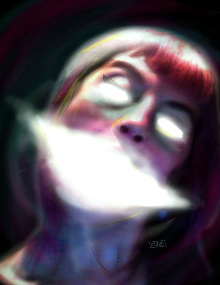 LA SUAVE NECESIDAD DEL SER   #illustration #digital #portrait #me #soul #girl #KOULEUR