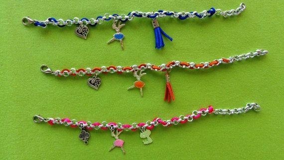 Ballerinas bracelet silver chainballerinas with by ArtisticBreaths