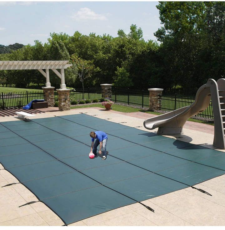 Blue Wave Sports Mesh In Ground Pool Safety Cover Reviews Home Macy S Pool Safety Covers Pool Safety In Ground Pools