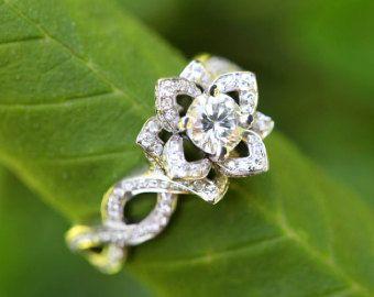 LOVE IN BLOOM Flower Lotus Rose Diamond by BeautifulPetra