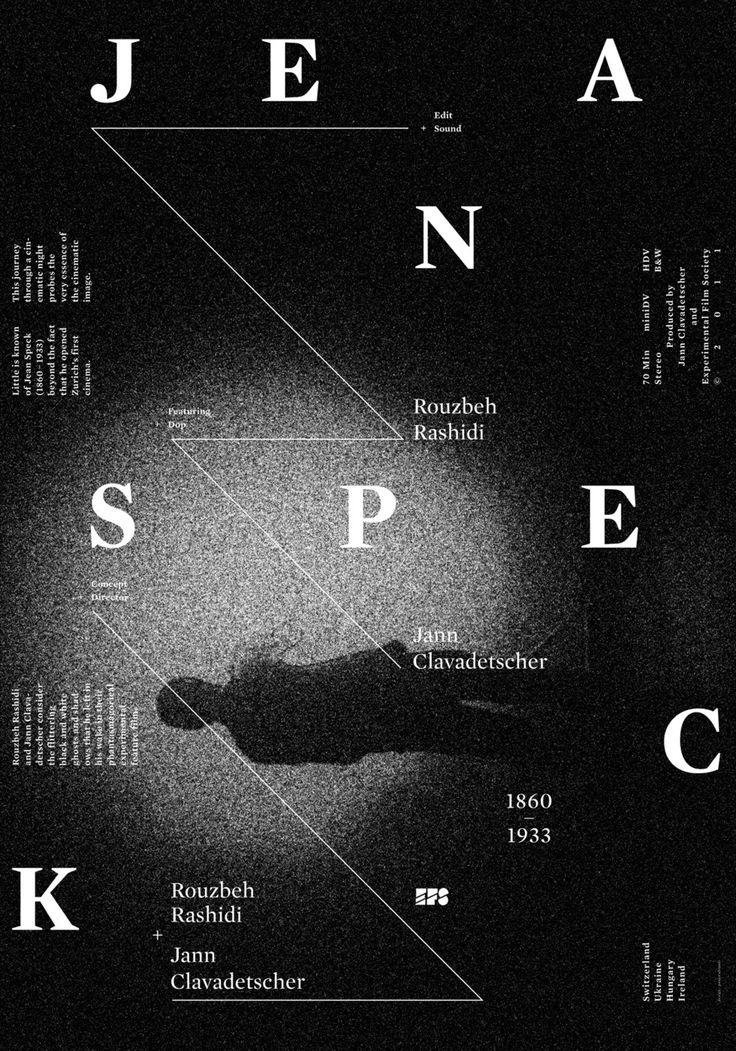 Pouya Ahmadi, Experimental Film Society (via typo/graphic posters)
