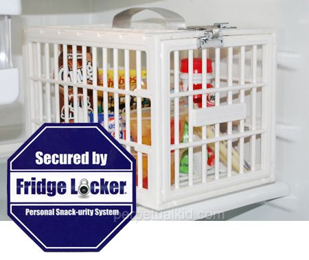 Fridge locker , keep your room mate from getting to your Pizza and Beer before you get back home