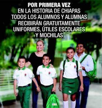 Acusan a gobernador de Chiapas por entregar uniformes con los colores el PVEM - Pulso Diario de San Luis