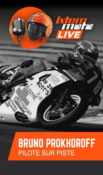 #moto #piste #circuit Bruno Prokhoroff est un pilote confirmé sur piste, entré dans le top 20 des 24 heures du Mans et du Bol d'Or. Il court aujourd'hui en Pro Classic où il continue d'enchaîner les victoires. Il sera le guide et l'équipier de Michel Das Neves sur le Bol d'Or Classic 2018. Dans cette interview il nous raconte son parcours avec passion et humour.
