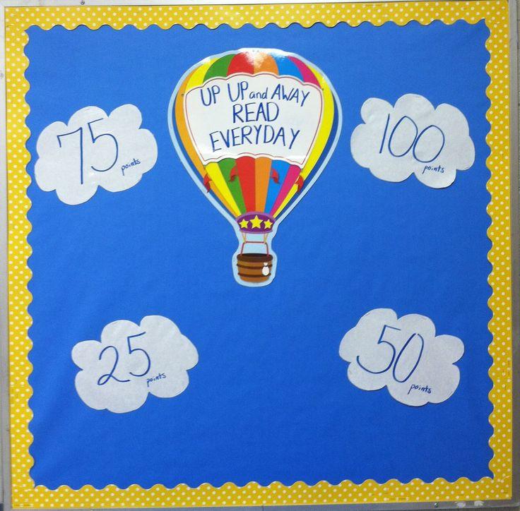 Mrs. McDonald's 4th Grade: Hot Air Balloon Bulletin Board for Accelerated Reader