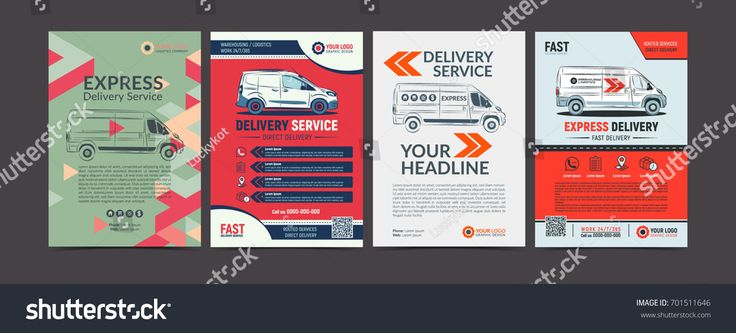 Set of Express delivery service brochure flyer design layout template. Fast delivery and quality service transportation magazine cover, mockup flyer. Layout in A4 size. Vector illustration.design#flyer#layout#Fast