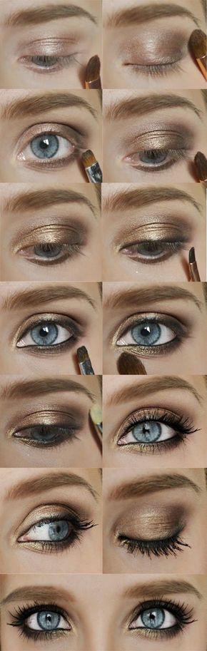Mila Kunis | Blue eye makeup tutorial, Smokey eye makeup ...