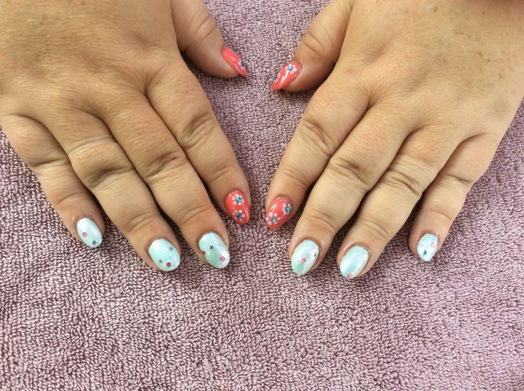summer pastels nail art design