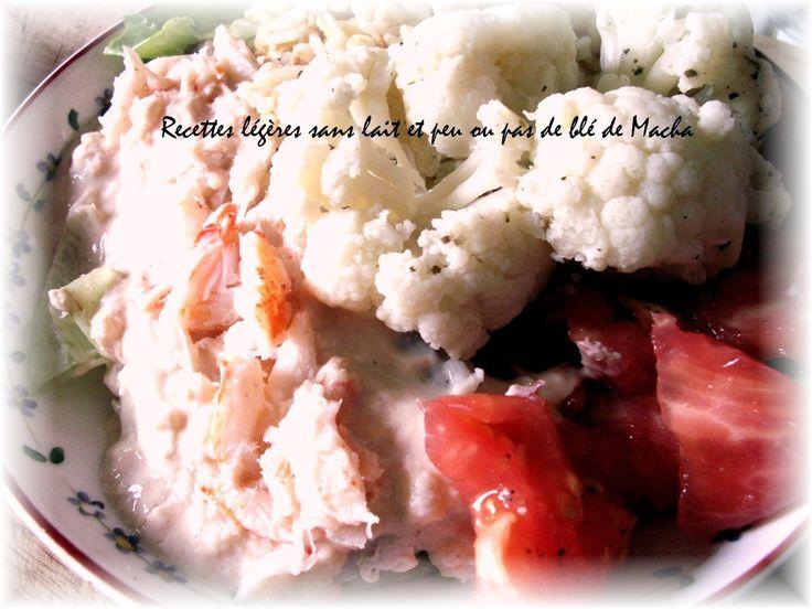 Assiette  complète de colin et crabe