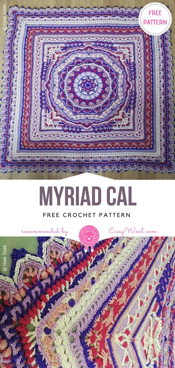 Myriad Cal Free Crochet Pattern On Easywoolcom Afghans