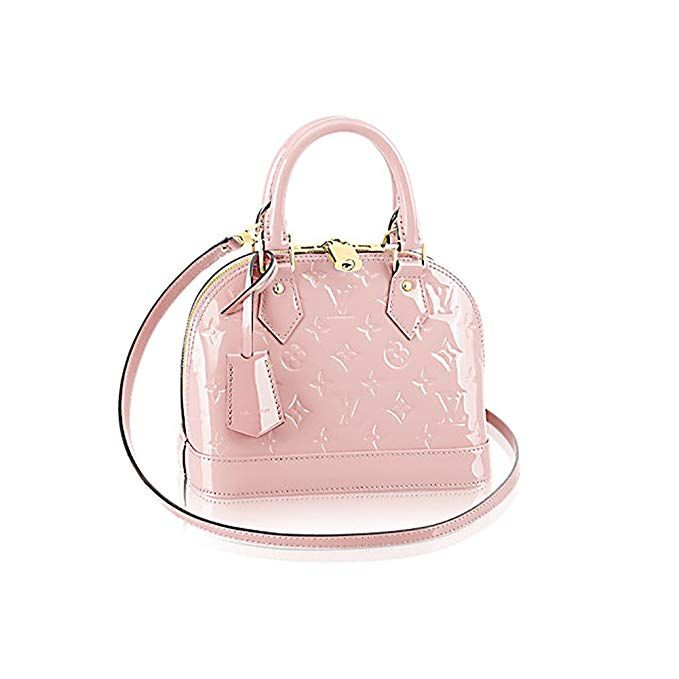 b3e093f2d4f2 Louis Vuitton Monogram Vernis Leather ALMA BB Cross-Body Carry Handbag  Article  M50415 RoseBalleria designer handbags spring handbags handbag  fashion ...
