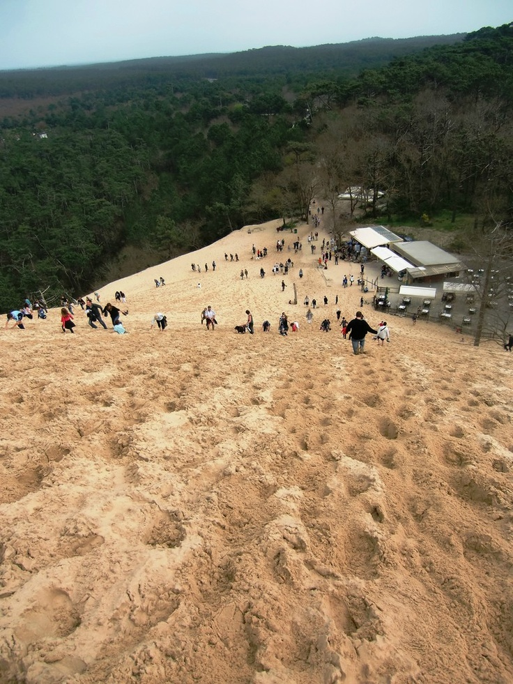 Yup. I walked all the up and down this; Dune de Pyla...the biggest sand dune in Europe. It was heavy!