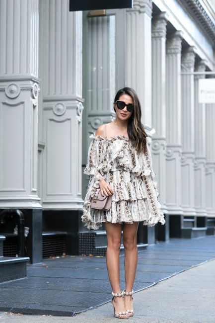Summer to Autumn :: Metallic dress & Fall layers