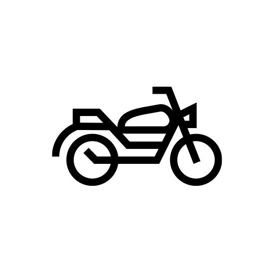 Motirbike Icon Design by Romualdo Faura #icon #icons #icondesign #iconset #iconography #iconic #picto #pictogram #pictograms #symbol #sign #zeichensystem #piktogramm #geometric #minimal #graphicdesign #mark #enblem #cycle #motorbike #mofa #motorcycle #vehicle