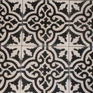Marockanskt kakel - Voltaire svartvit