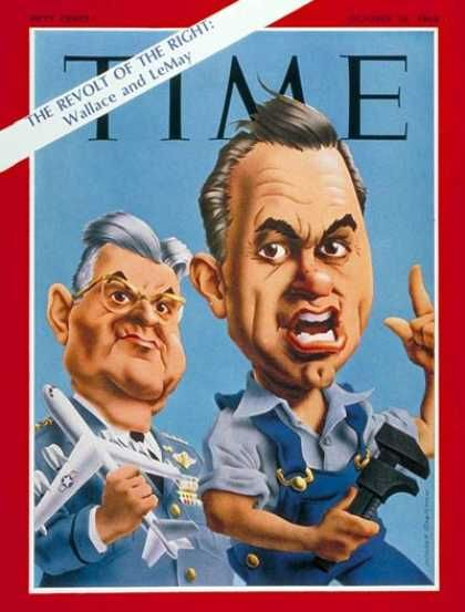 Curtis LeMay, George Wallace, Time Magazine, Oct. 18, 1968