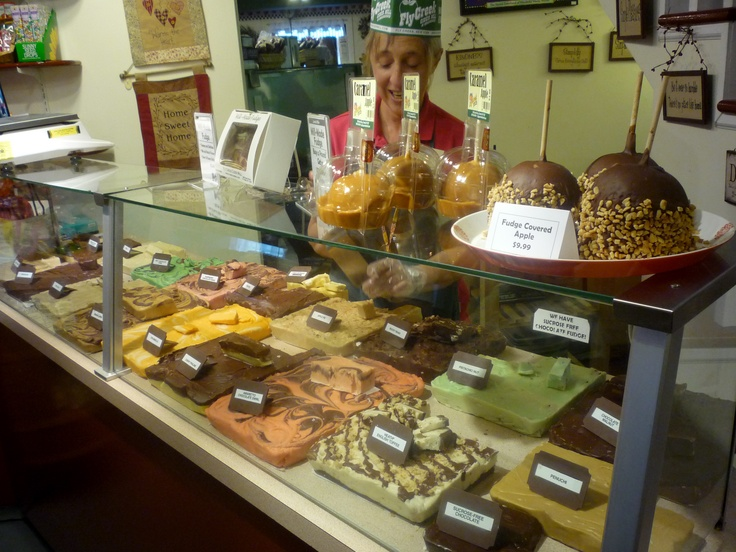 The fudge counter at the Fly Creek Cider Mill, Fly Creek NY. Yum!