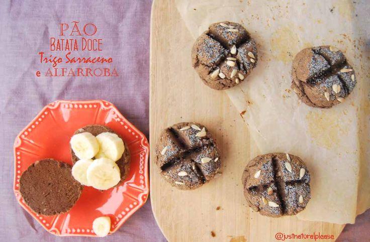 Pão de alfarroba, trigo sarraceno e batata doce
