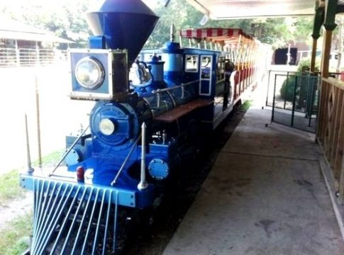 Here's a unique way to see the beautiful sites of Broken Bow and Beavers Bend State Park in Oklahoma. Take a ride around the park on a 1/3 size replica of the C.P. Huntington S.P. train from 1863. You can also take an hour long trail ride on the back of a horse.