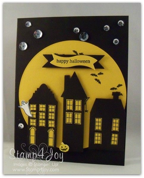 halloween card layouts