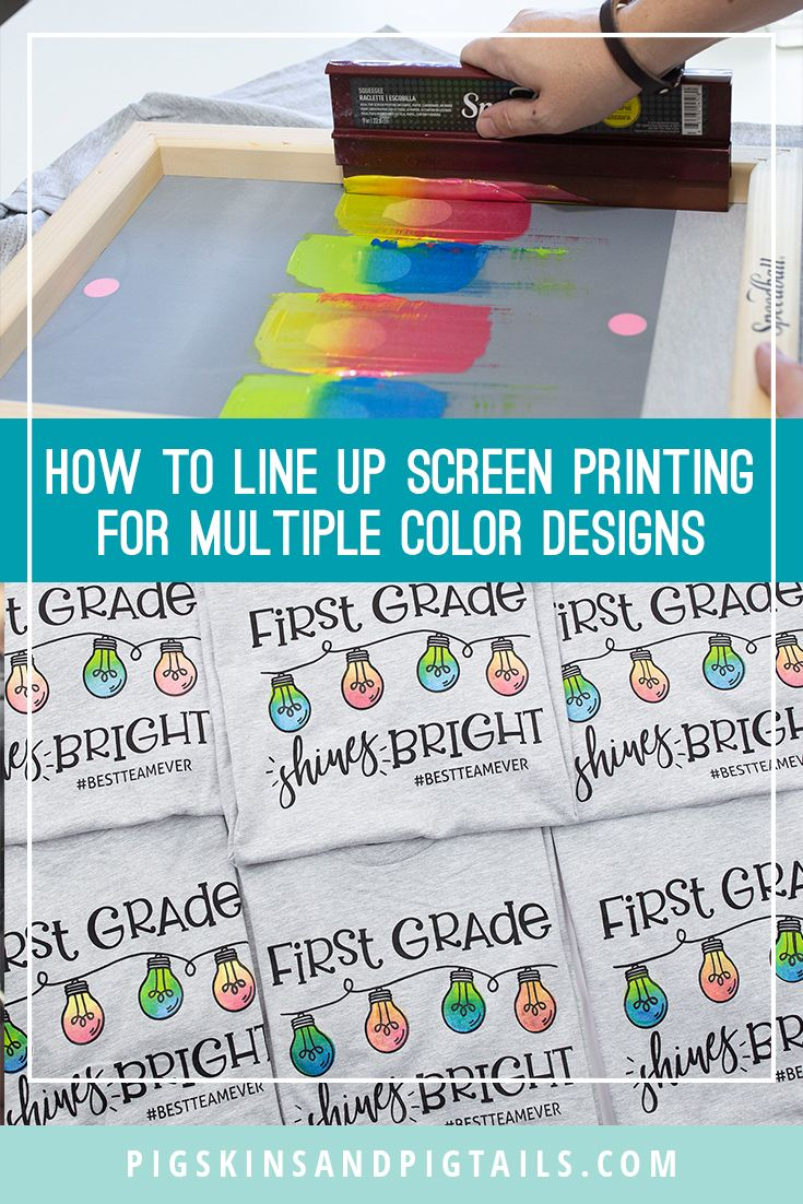 How To Line Up Screen Printing For Multiple Color Designs Screen Printing Designs Screen Printing Multiple Colors Screen Printing