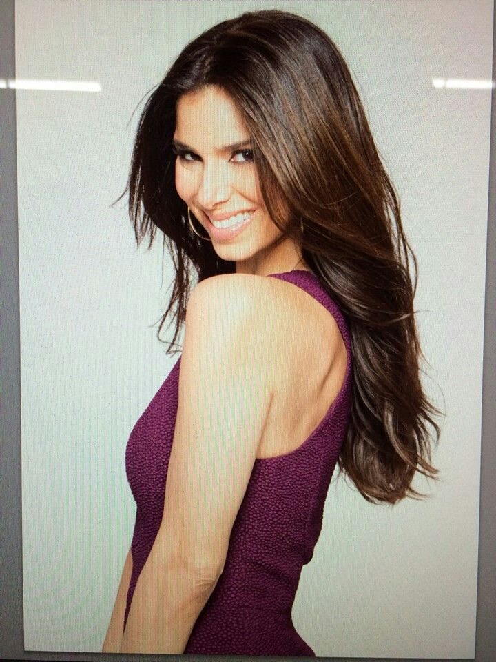 Roselyn Sanchez - chestnut brown layered hair.