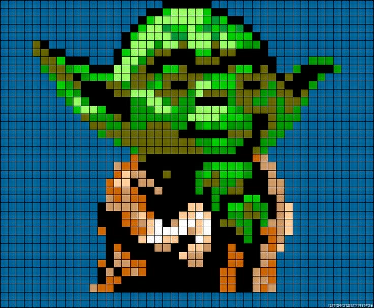Yoda Star Wars perler bead pattern