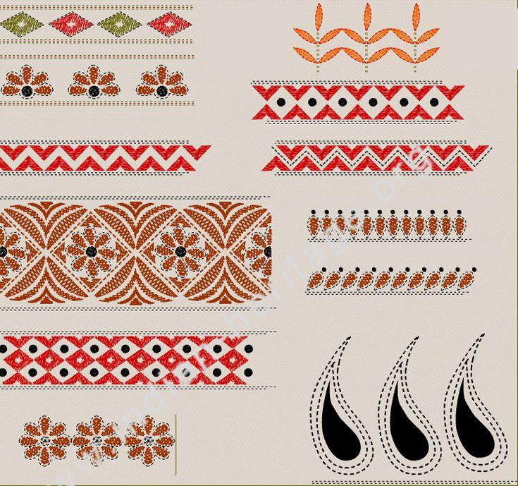 simple kantha stitch pattern - Google Search