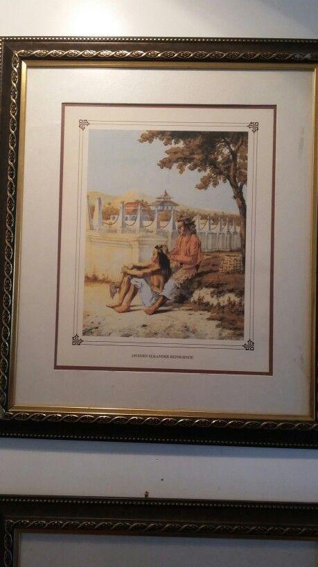 """Judul lukisannya """"wanita mencari kutu"""" - Auguste Van Pers (1856)"""