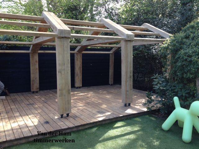 Verrijdbare veranda eikenhout gebouwd van der ham timmerwerken van der ham timmerwerken - Overdekte patio pergola ...