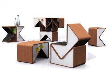 PACMAN par le designer coréen Cho Hyung Suk. Module Multi-fonction Biblio-design : s'asseoir... - Bloggidoc