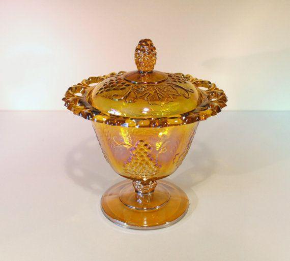 Vintage Indiana Glass Harvest Pattern by RetroEnvy21 on Etsy
