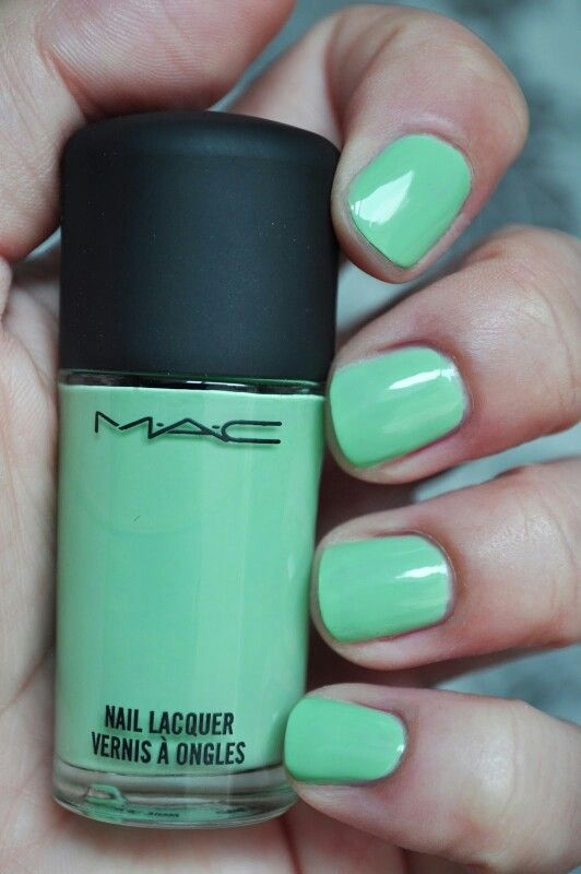 Mac peppermint pattie nail polish
