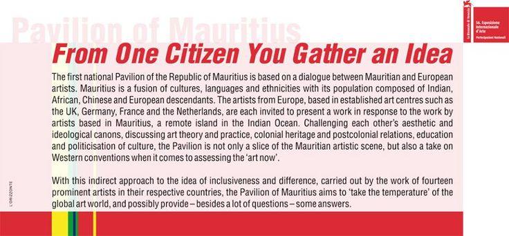 Mauritius National Pavilion - Palazzo Flangini.