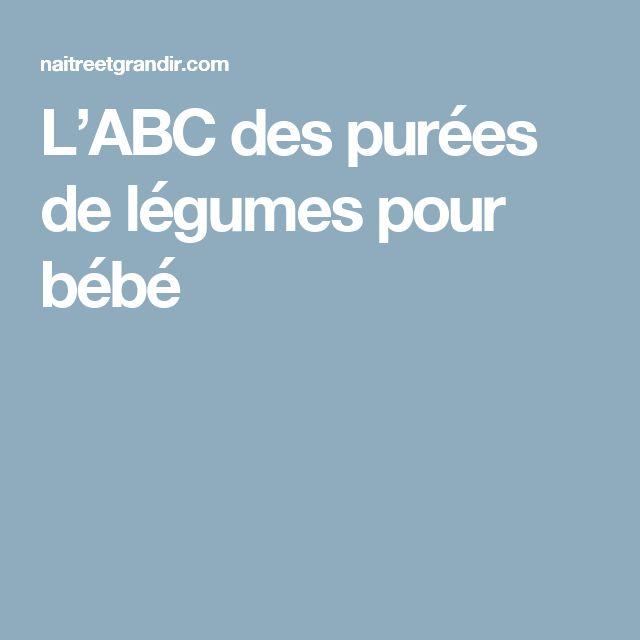 L'ABC des purées de légumes pour bébé