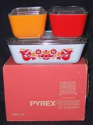 Pyrex New in Box Friendship Bird Refrigerator Casserole Baking Dish Bowl Lid Red