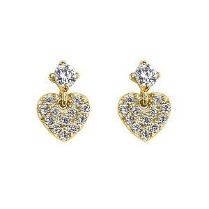 14K Yellow Gold Plated Heart CZ Stud Earrings with Screw-back for Children & Women The World Jewelry Center. $12.95. Screw Back. Promptly Packaged with Free Gift Box and Gift Bag. Save 62% Off!