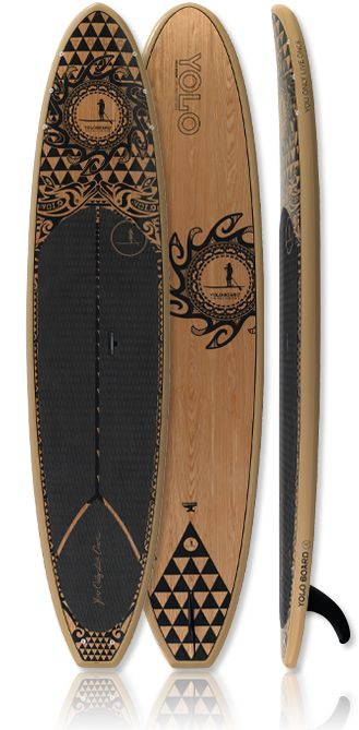 YOLO Original 12' - Tattoo Paddle board enjoy A great summer workout while paddling the waves amongst the ocean's waves