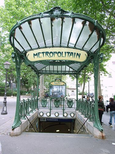Entrance to the Abbesses Metro station (1900-4) by Hector Guimard, Montmatre, Paris - Amazing Metro Entrance! http://mydesignagenda.com/
