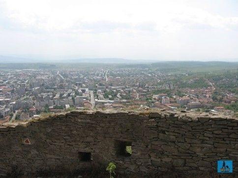 Panoramă a Devei văzută din cetatea Devei