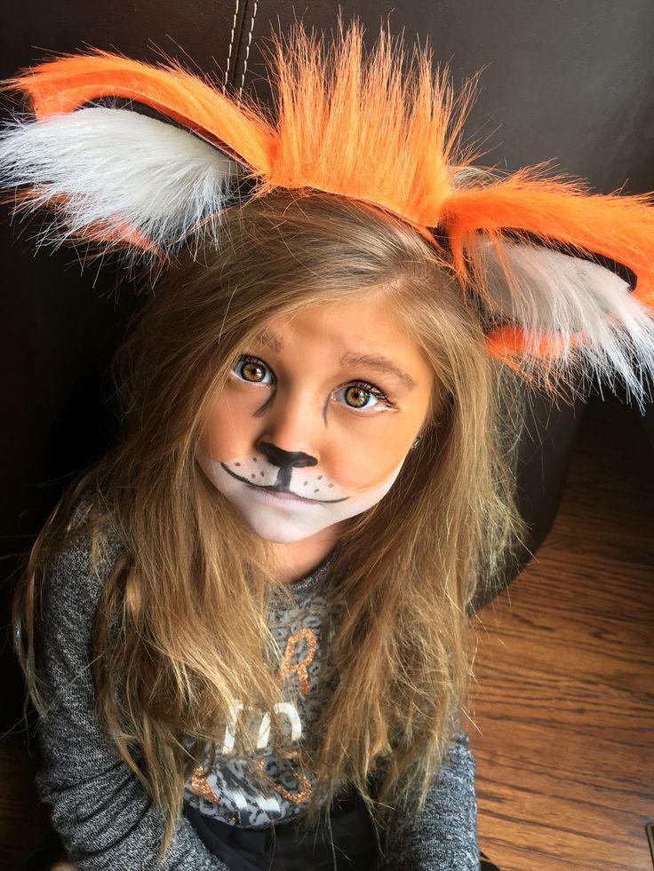 Easy Little Girl Fox Makeup And Headband Make Up Ideas 2017 - Fox-makeup