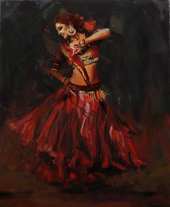 Classical Dance Art 16 by Maryam Mughal